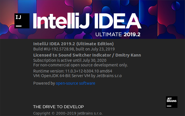 Intellij IDEA 2019.2 Ultimate.